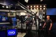 Studio A is 700 square feet. It is designed to create a variety of camera shots during pregame and postgame shows.