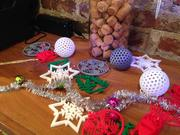 All 3D printed ornaments from the MakeShop