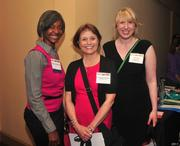 Ramona McCree (left) of CBIZ along with Peggy Flathmann and Michelle Cosgrove of Fridley Public Schools at Healthiest Employers. View more photos from this event.