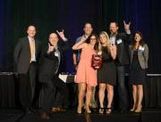 Magnet 360 employees accept their award as a 2013 Best Places to Work small company category winner. View more photos from this event.