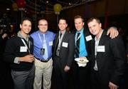 Employees of All Around Property Preservation (left to right) Charles Thayer, Nick Zeman, David Moon, Freddy Deen and Jordan Muehlberg celebrate their company's No. 1 ranking on the Fast 50. View more photos from this event.