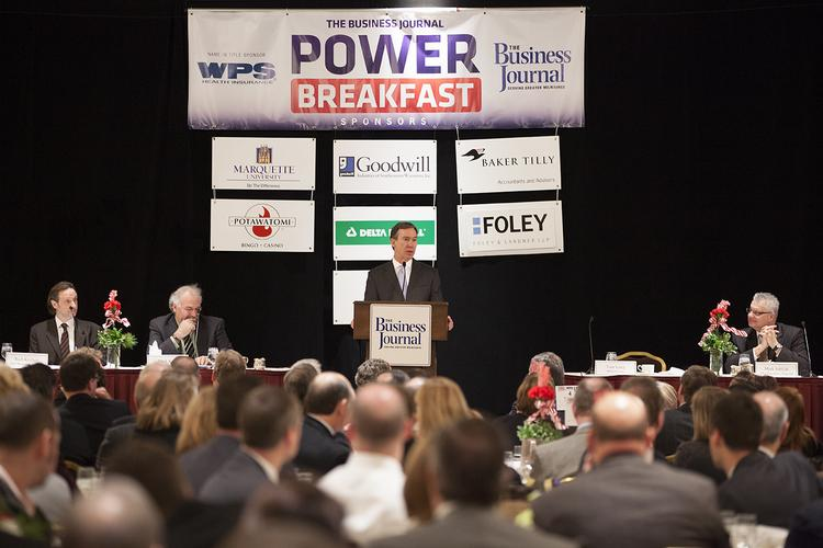 MillerCoors CEO Tom Long spoke Friday at The Business Journal's Power Breakfast.
