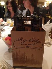 MillerCoors gave each attendee a four-pack of Big Eddy Baltic Porter beer.