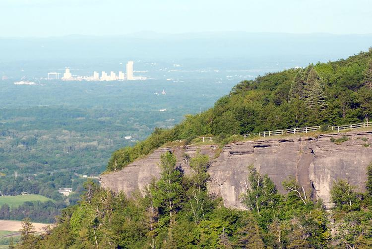 Thacher Park near Voorheesville in Albany County, NY, is among several state parks that is targeting more young professionals by boosting the number of outdoor adventures that they offer such as rock climbing and cave exploration.