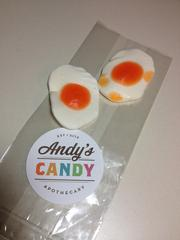 Andy's Candy Apothecary features candy that goes beyond the traditional, such as the gummy treats that resemble fried eggs and taste a little like tropical fruit.