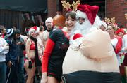 Wearing a Speedo (or similar attire) was required and runners were encouraged to accessorize with holiday themed flair.