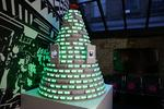 Christmas tree powered by hashtags — and you