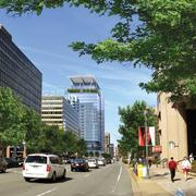 Another view of Vornado's planned 24-story 1900 Crystal Drive, what will be Arlington's tallest office building.