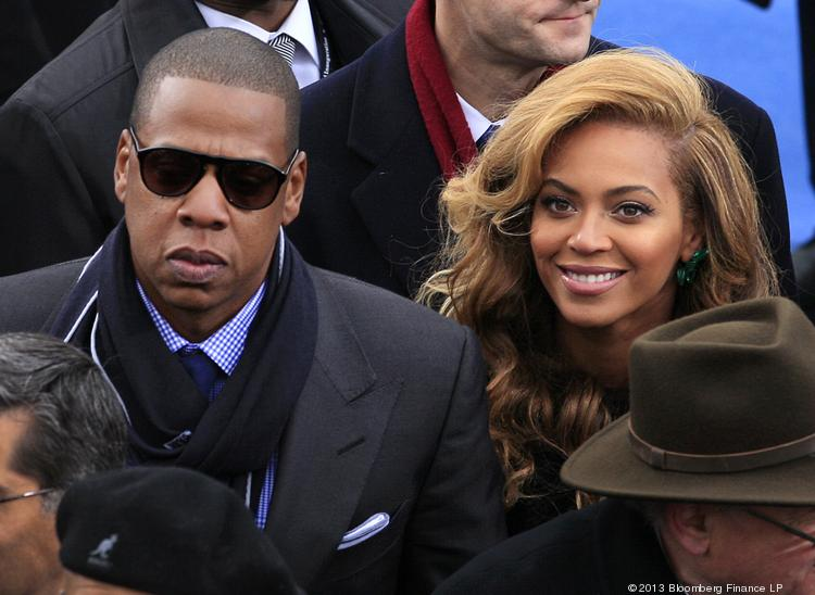 Jay-Z, here pictured with his wife, Beyonce, will not have his newest album certified platinum thanks to 1 million giveaways by Samsung.