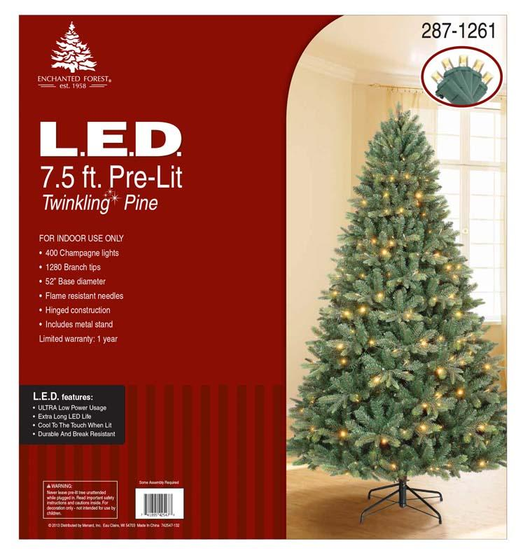 menards is recalling a pre lit christmas tree that poses a fire burn and - Enchanted Forest Christmas Trees