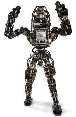 Boston Dynamics is the creator of robots including Atlas, a humanoid robot designed to negotiate outdoor terrain.