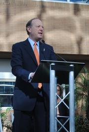 Dr. David Guzick, senior vice president for Health Affaird and president of UF Health