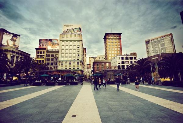 No more room: Union Square hit record low vacancy as more luxury designers such as Alexander McQueen moved in, putting the shopping district on nearly equal footing with New York's Fifth Avenue and Rodeo Drive in Los Angeles.