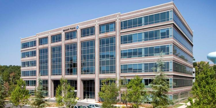 The Genworth Financial (NYSE: GNW) building in north Raleigh