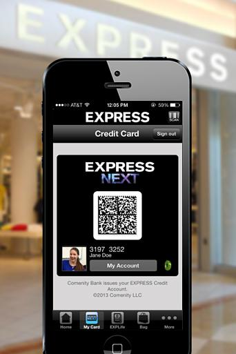 Express is letting customers leave their wallets behind by linking their store-branded credit card to its app on their iPhone.