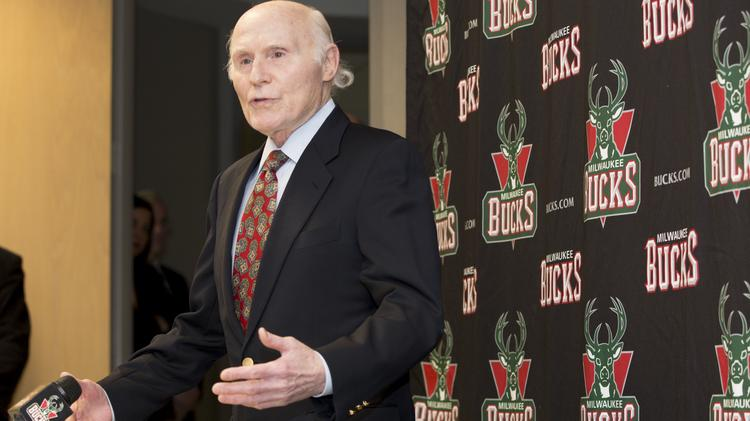Milwaukee Bucks owner Herb Kohl at a press conference Dec. 16, 2013, in which he announced plans to take on additional investors in the NBA team