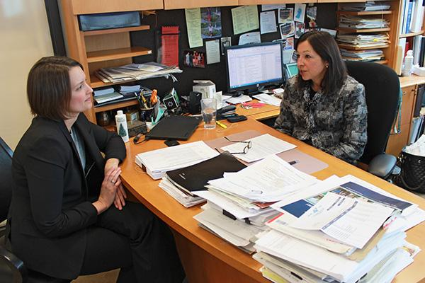 Susan Roney, right, of Nixon Peabody, seen here with associate Tracey Ehlers, says the firm has adapted a fresh approach to recruiting millennials.