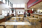 The redesigned Wendy's has booths and a bar area among its seating options.