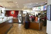 The front counter was redesigned to open it up for more space for customers and a bigger Wendy's kitchen.
