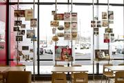 The community room displays memorabilia from Wendy's history.