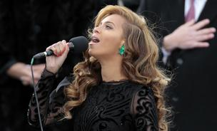 Beyonce performs the national anthem during the U.S. presidential inauguration in Washington, D.C.