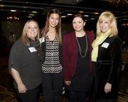 Sacramento Metro Chamber senior programs and events manager Mindy Johnston; Metro Chamber programs and events coordinator Carolie Cepel, NextEd marketing and communications manager Ashleigh Stayton and NextEd director of educational innovation Linda Christopher are at the NextEd convergence event.