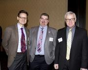 SunPower Corporation managing director Bill Kelly, NextEd Project Lead The Way coordinator Bob Bachmeier and Los Rios Community College District dean of instruction and technology Gary Hartley are at the NextEd convergence event.