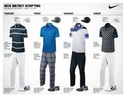 American Nick Watney, the world's 23rd-ranked golfer, will wear these four outfits at this year's Master's golf tournament. He tied for 32nd in the event last year.