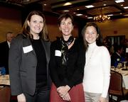 Five Star Bank vice president of communications and community relations director Erica Taylor,  Center for Land-Based Learning FARMS leadership program director Christine McMorrow and Center for Land-Based Learning SLEWS program director Nina Suzuki are at the NextEd convergence event.