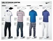 Swedish golfer Carl Pettersson will wear these four outfits during the four-day Masters tournament. Pettersson is ranked 35th in the world.