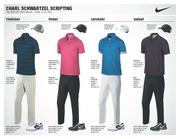 South African golfer Charl Schwartzel, winner of the 2011 Masters, will wear these four Nike Golf outfits during this year's tournament. Schwartzel is currently the 15th-ranked golfer in the world.