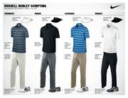 Russell Henley, the world's 50th-ranked golfer, will wear these four outfits supplied by Nike Golf during the Masters next week.