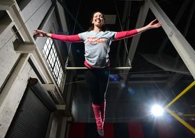 Katie Kimball, co-owner of Twin Cities Trapeze Center, said the fledgling company turned a profit earlier than expected.