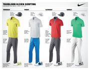 Thorbjorn Olesen of Denmark, the world's 40th-ranked golfer, will wear these four Nike Golf outfits during next week's Masters tournament.