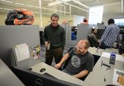Polaris CEO Scott Wine with Project Engineer Mark Bergstrom