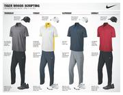 Tiger Woods will enter the 2013 Masters as the top-ranked golfer in the world wearing these four outfits at Augusta. Woods has won the green jacket four times, the last coming in 2005.