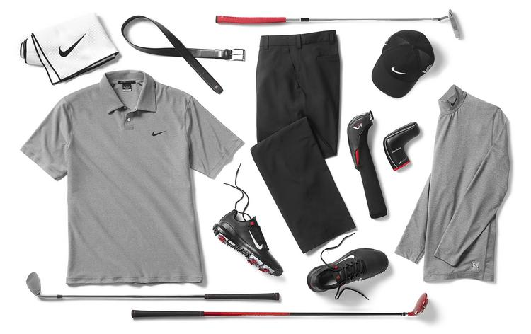 This is some of the gear Tiger Woods will wear during next week's Masters tournament, which runs April 11-14 in Augusta, Ga.