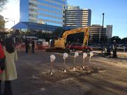 The parking garage is scheduled to be complete in August 2014.
