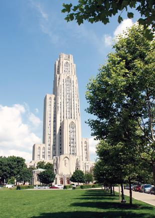 Cathedral of Learning on the campus of the University of Pittsburgh is getting an elevator upgrade.