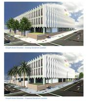A conceptual rendering of the Jesie Ball duPont Center's nonprofit office complex in the Old Library.