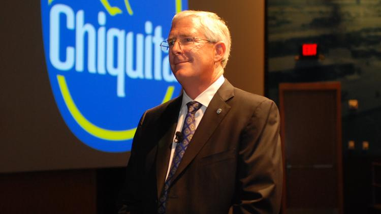 """Chiquita CEO Ed Lonergan says the company has """"over-delivered"""" on it promises to bring employees to Charlotte."""