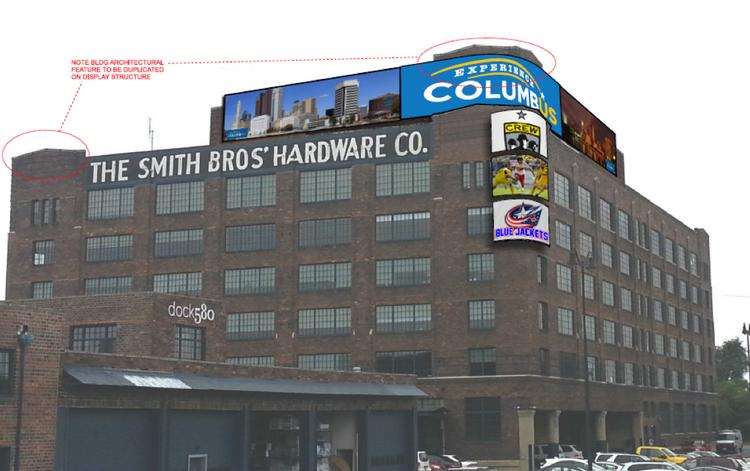 A proposal to put a series of electronic billboards on the Smith Brothers Hardware building at 580 N. Fourth St. was tabled by the Downtown Commission.