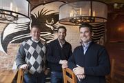 The Eagle Food and Beer Hall is co-owned by Alex Blust (left) and brothers John and Joe Lanni. They also own Bakersfield OTR and Currito.