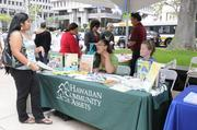 Hawaiian Community Assets had a booth at the Hawaii Department of Commerce and Consumer Affairs Financial Literacy Fair at Tamarind Park in Downtown Honolulu.