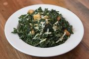 A kale salad is a unique offering from the menu at The Eagle Food and Beer Hall.