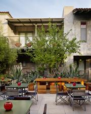 A outdoor courtyard of the Hotel San Jose in Austin was designed by Lake   Flato Architects, which has done numerous projects with the hospitality company called the Bunkhouse Group. Liz Lambert, its principal, has created boutique hotels of national acclaim in Austin, San Antonio and Marfa and Lake   Flato is often her go-to designer.