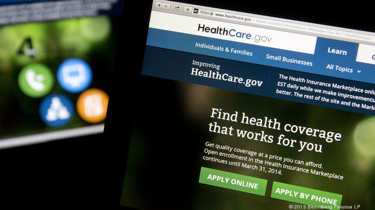 File photo of the Healthcare.gov website. Nearly 300,000 Texans have enrolled in the health exchange marketplace. Photographer: Andrew Harrer/Bloomberg