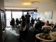 This luxury suite is sold by the seat often creating a new group of friends among the fans.