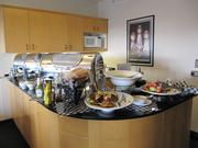 Luxury suites come with catered food like this spread.