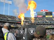 Oakland Raiders executives have added pyrotechnics to team's entrance into the stadium at the start of home games.